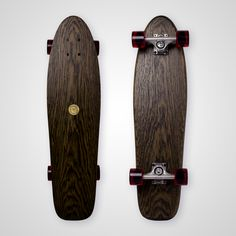Skate Boards Discover All Cruiser Long - Black (Oak Wood) Cruiser Boards, Longboard Design, Skull Logo, Cool Skateboards, Wooden Decks, Skateboard Decks, Surfboards, Classic Mini, Medium Brown