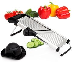 Sterline Stainless Steel Mandoline Slicer for $21  free shipping #LavaHot https://www.lavahotdeals.com/us/cheap/sterline-stainless-steel-mandoline-slicer-21-free-shipping/249778?utm_source=pinterest&utm_medium=rss&utm_campaign=at_lavahotdealsus&utm_term=hottest_12
