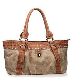 Beige Rhinestone Fashion Large Handbag - Handbags, Bling & More!