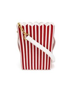 Add a fresh burst of fun to off-duty outfits with Mua Mua's playful popcorn bag. Crafted from leather with a popcorn print lining, it's got enough room for all your weekend essentials.