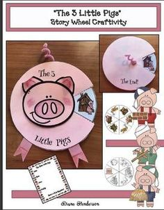 3 little pigs fairy tale activities, 3 little pigs crafts, retelling a story activities, sequencing a story activities 3 Little Pigs Activities, Retelling Activities, Fairy Tale Activities, Library Activities, Activities For Kids, Three Little Pigs Story, Creative Writing For Kids, Fairy Tale Crafts, Art For Kids