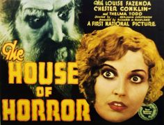 House of Horror (1929) was released in silent and sound versions. Cornell Woolrich wrote the dialogue. Unfortunately, House of Horror is a lost film.