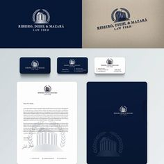 Ribeiro, Diehl & Mazar¨¢ - It is law firm in Brasil that is looking for a great logo to communicate our values (Trust, Power) It is law firm based on Brasil and specialized in Enterprise business ( contracts, M&A ). Layout Design, Logo Design, Law Firm Logo, Enterprise Business, Famous Logos, Brand Identity Pack, Great Logos, Logo Food, Vintage Branding