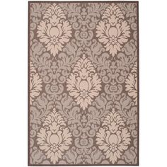 Courtyard Chocolate/Natural (Brown/Natural) 6 ft. 7 in. x 9 ft. 6 in. Indoor/Outdoor Rectangle Area Rug