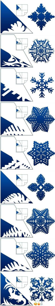 Snow flakes cut outs
