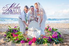 Maui weddings - dove releases... place your wishes on their wiings