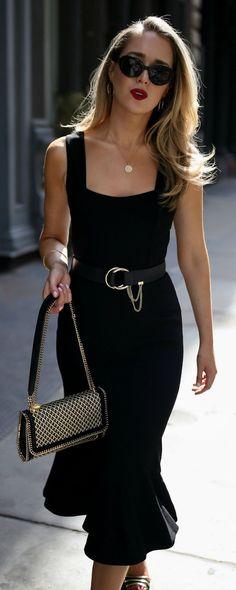 30 Dresses in 30 Days  Date Night    Sleeveless princess hem black midi  dress 9ecb489693f76