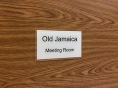 Old Jamaica, Office Door Signs, Staff Room, Meeting Rooms, Room Signs, Signage, Cards Against Humanity, Doors, Business