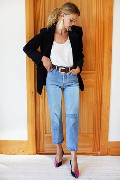 Business Casual Outfits For Women, Professional Outfits, Casual Summer Outfits, Chic Outfits, Girly Outfits, Business Casual With Jeans, Business Casual Fashion, Casual Church Outfits, Pretty Outfits