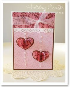 Cute valentine card by Holiday Crafts and Creations