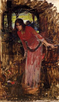John William Waterhouse Paintings Masters | His process seems to have involved a strict linear draftsmanship