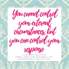 Monday Mindset Motivation: When conditions (people or events) cause your thoughts to spiral into negative-ville, break the momentum by recalibrating your mindset to control the response (reaction or attitude) instead of trying to control the condition that has already happened or trying control someone else's mindset, beliefs, attitude, reaction or action. This shifts you from being reactive to proactive - problem oriented to solution oriented. This is a much more freeing, positive and less…