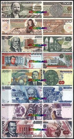 Mexico Banknotes Paper Money Catalog And Mexican Currency History Peso Notes