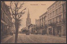 ungebrauchte Ansichtskarte Memel Marktstraße ca. 1900-1920 (803)
