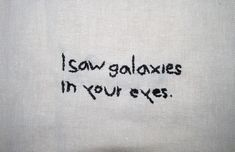galaxies in your eyes