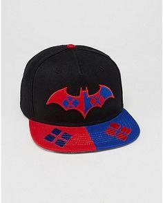 a50ad0aff78 DC Comics Forever Evil Harley Quinn Snapback Hat - Spencer s. Flat Bill ...