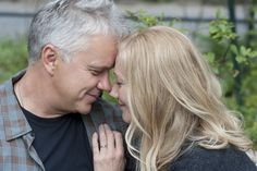 Mike (Tim Robbins) and Katie (Joely Richardson) share a moment in Thanks For Sharing. Joely Richardson, Tim Robbins, Alecia Moore, Thanks For Sharing, Mark Ruffalo, Gwyneth Paltrow, Classic Beauty, How To Find Out, Thankful