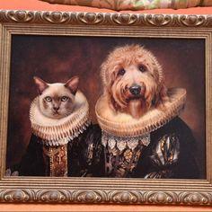We combine your pet photo with a classical masterpiece to create your very own unique Pet Portrait. Christmas Tree Painting, Unique Animals, Buffy, Plushies, Pet Portraits, Pets, Canvas, House, Dog Portraits