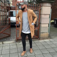 Everything will be okay. Men's outfit. Camel Coat