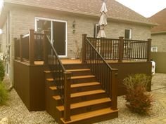 We specialise in multi-level deck and patio since 200 pictures, ideas & images. Deck Skirting, Hot Tub Deck, Deck Pictures, Construction, Deck Design, Woodworking Projects, My House, Sweet Home, Backyard