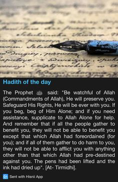Hadith of the day                                                                                                                                                                                 More Prophet Muhammad Quotes, Hadith Quotes, Muslim Quotes, Islamic Quotes, Islam Hadith, Islam Quran, Alhamdulillah, Islamic Prayer, Islamic Teachings