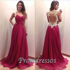2015 cute rose lace modest open back long prom dress with straps, cute+dresses+for+tens, evening dress, ball gown #promdress