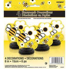 Mini Honeycomb Bumble Bee Decorations, 4pk WALMART  $1.29
