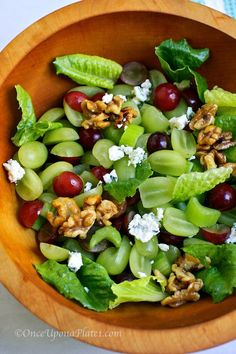 Fall Grape Salad with Blue Cheese and Walnuts (or Pecans)