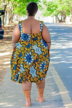 Plus Size African Clothing Dress for Women, Ankara African Prints Dress for Curve Women, Summer Afrocentric Clothing, SIZE:XSmall to - Yellow - Damenmode African Print Dress Designs, African Print Dresses, African Dresses For Women, African Print Fashion, African Prints, African Fashion Designers, Latest African Fashion Dresses, Afrocentric Clothing, Gothic Clothing