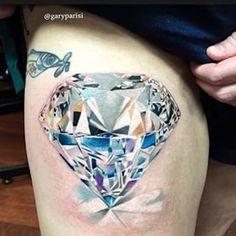 New Jewerly Tattoo Ink Awesome Ideas Diamond Tattoo Designs, Diamond Tattoos, Ring Tattoos, Body Art Tattoos, Tattoo Drawings, Sleeve Tattoos, Gem Tattoo, Jewel Tattoo, Crystal Tattoo