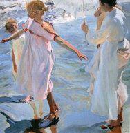 Joaquín Sorolla - Spanish Artist  Sorolla Bathtime 1909