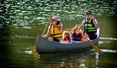 Faire du canoë en vacances