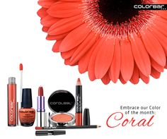 #Coral Fixation. #Bright coral hues are making a #splash this season. So embrace the captivating #Color and add some #glam to your #look: www.colorbarcosmetics.com