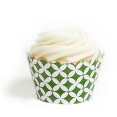 Leaf Green Diamonds Cupcake Wrappers