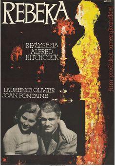 "Rebecca (CWF, R-1950s). Polish One Sheet (23"" X 33""). Wojciech Wenzel."