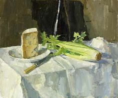 Oliver Akers Douglas: Stilton and Celery - contemporary artist (be sure to read the artist's bio on the site to learn about his process)