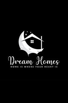 #minimallogo,#modernlogo,#textbased logo Dream Home Design, House Design, Logo Design, Graphic Design, Minimal Logo, Home Logo, Creative Logo, Modern Logo, Dream Homes