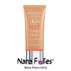 Fond de teint Bourjois Air Mat - 8.35€ #nanafolies #bonsplans #beauté #cosmetics #bourjois #paris #teint #airmat