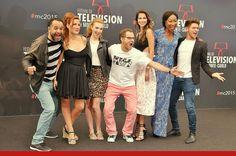 Catalina Denis junto a parte del elenco de Pep's en el Festival de Tv de Montecarlo