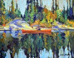 Garth Armstrong - Canoe Kawartha Lakes Park 8 x 10 Canadian Painters, Lake Park, Canoe, Lakes, Landscapes, Painting, Art, Paisajes, Painting Art