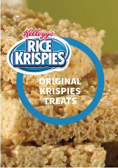 Rice Krispies Original Krispies Treats -- This classic, delicious snack has been making memories for kids and parents alike for generations. This super easy and quick dessert recipe will keep you coming back for more.