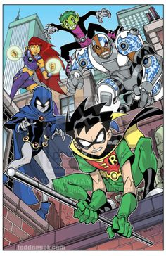 Teen Titans on patrol by ToddNauck on deviantART