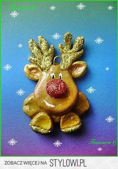 salt dough reindeer
