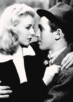 "Ginger Rogers and James Stewart in ""Vivacious Lady"" (1938)"