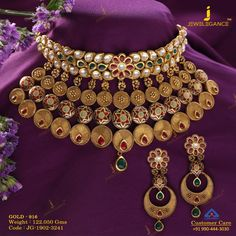 Get In Touch With us on Antique Jewellery Designs, Gold Jewellery Design, Gold Jewelry, India Jewelry, Bridal Jewellery, Rajputi Jewellery, Bride Necklace, Gold Necklace, Choker Necklaces