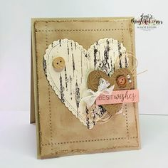 Best Wishes by Dani D - Cards and Paper Crafts at Splitcoaststampers Valentines Gifts For Boyfriend, Valentines For Kids, Valentine Cards, Valentine Ideas, Wedding Anniversary Cards, Wedding Cards, Diy Wedding, Wedding Congratulations Card, Valentine Background