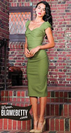 Stop Staring dress Billion dollar baby Olive green New with tags Vintage Inspired Fashion, Vintage Fashion, Retro Outfits, Cool Outfits, Baby Dress, Dress Up, Stop Staring Dresses, Baby Olive, Dress Outfits