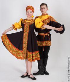 Купить Танцевальный костюм Русские узоры - орнамент, русские узоры, русский народный костюм