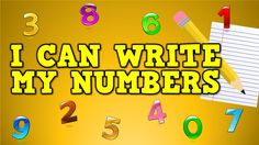Com harry kindergarten music, llc hip educational songs & videos for the classroom! song: i can write my numbers! Math Songs, Preschool Songs, Math Activities, Silly Songs, Kids Songs, Math Games, Math Numbers, Writing Numbers, Numbers Preschool