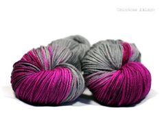 Pink Skies - merino DK hand dyed yarn 115g - www.countessablaze.com